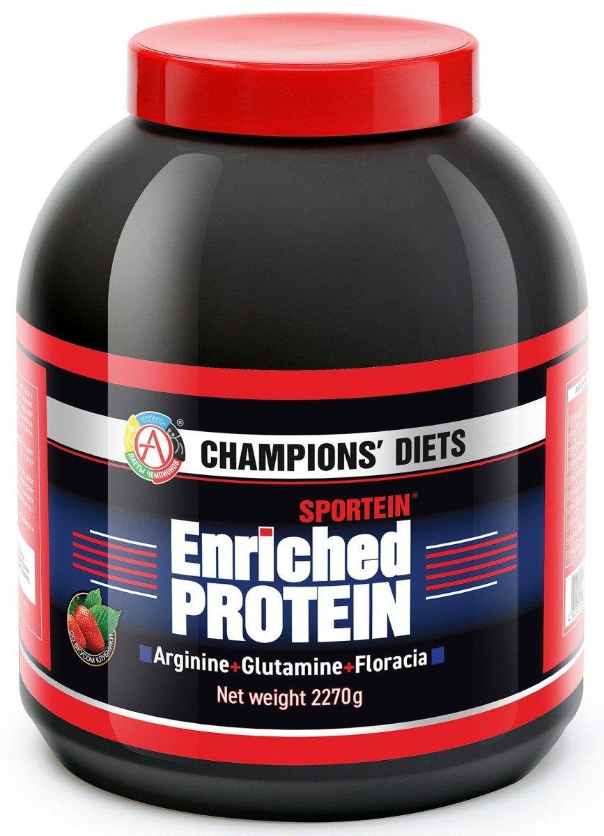 Протеин SPORTEIN Enriched PROTEIN, вкус клубника, 2270 гр, Академия-Т фото