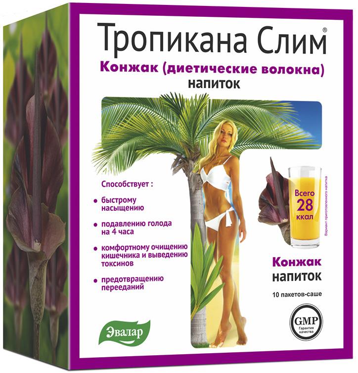 Диетические волокна Конжак, 10 саше по 10 гр,  Тропикана слим