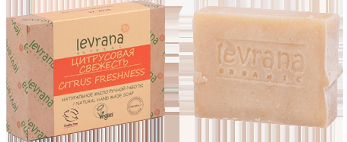 Натуральное мыло ручной работы Цитрусовая свежесть, 100 гр, Levrana фото