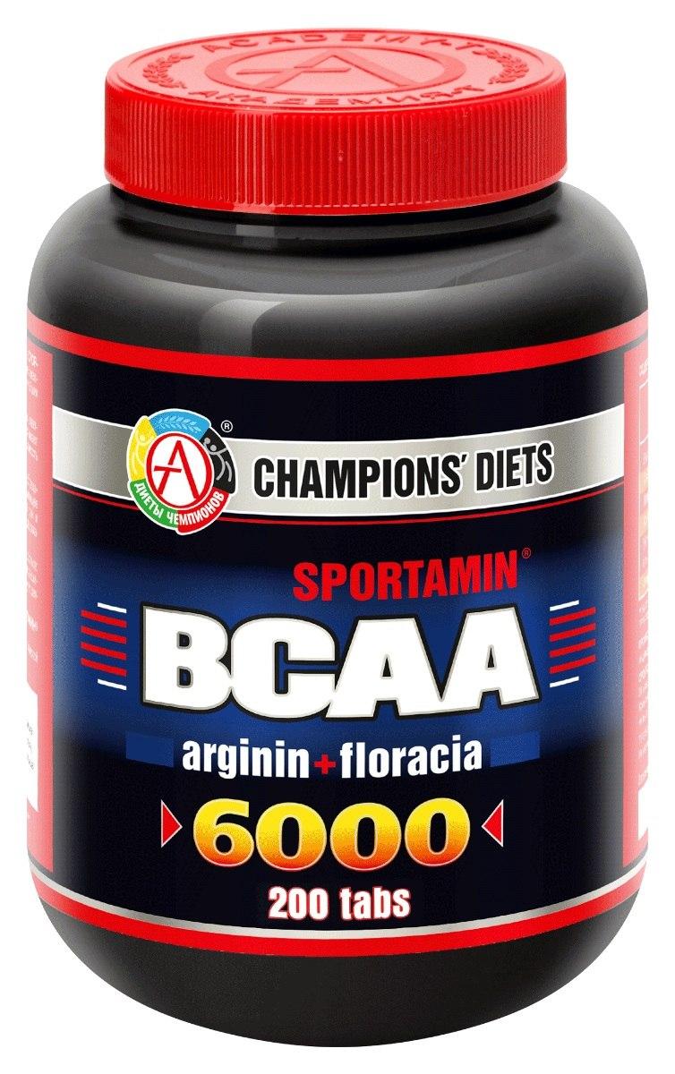 Аминокислотный комплекс BCAA 6000 СПОРТАМИН, 200 таблеток,