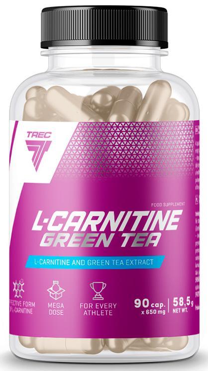 L-Carnitin + Green Tea, 90 капсул, Trec Nutrition