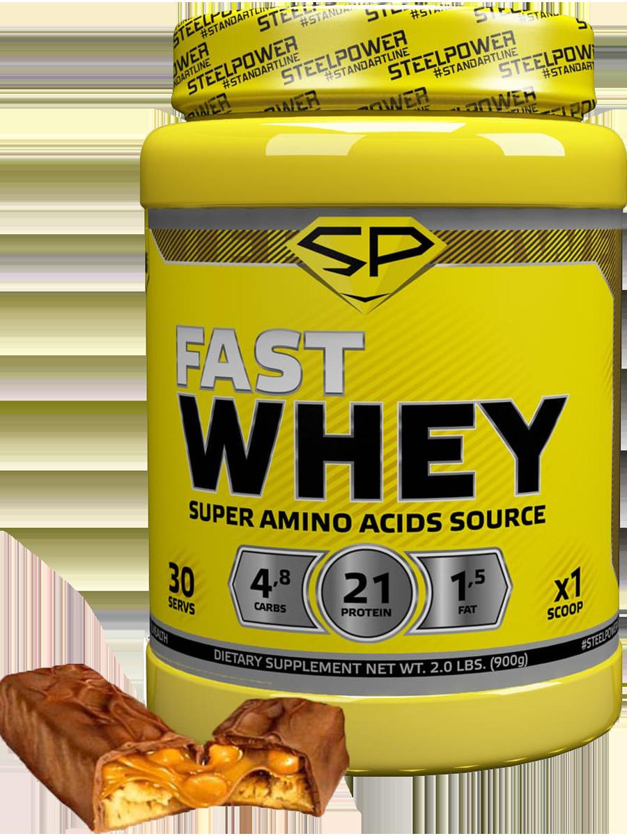 Сывороточный протеин FAST WHEY, вкус «Арахис, карамель,