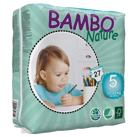 Подгузники для детей Nature Junior 5, 12-22 кг, 27 шт, BAMBO фото