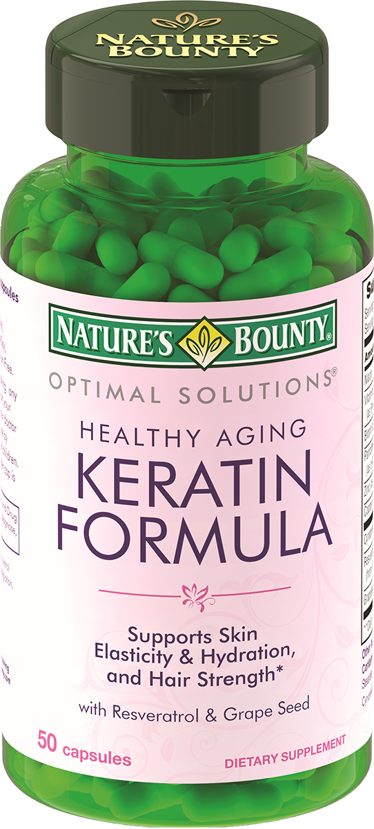 Кератин формула, 50 капсул, Natures Bounty
