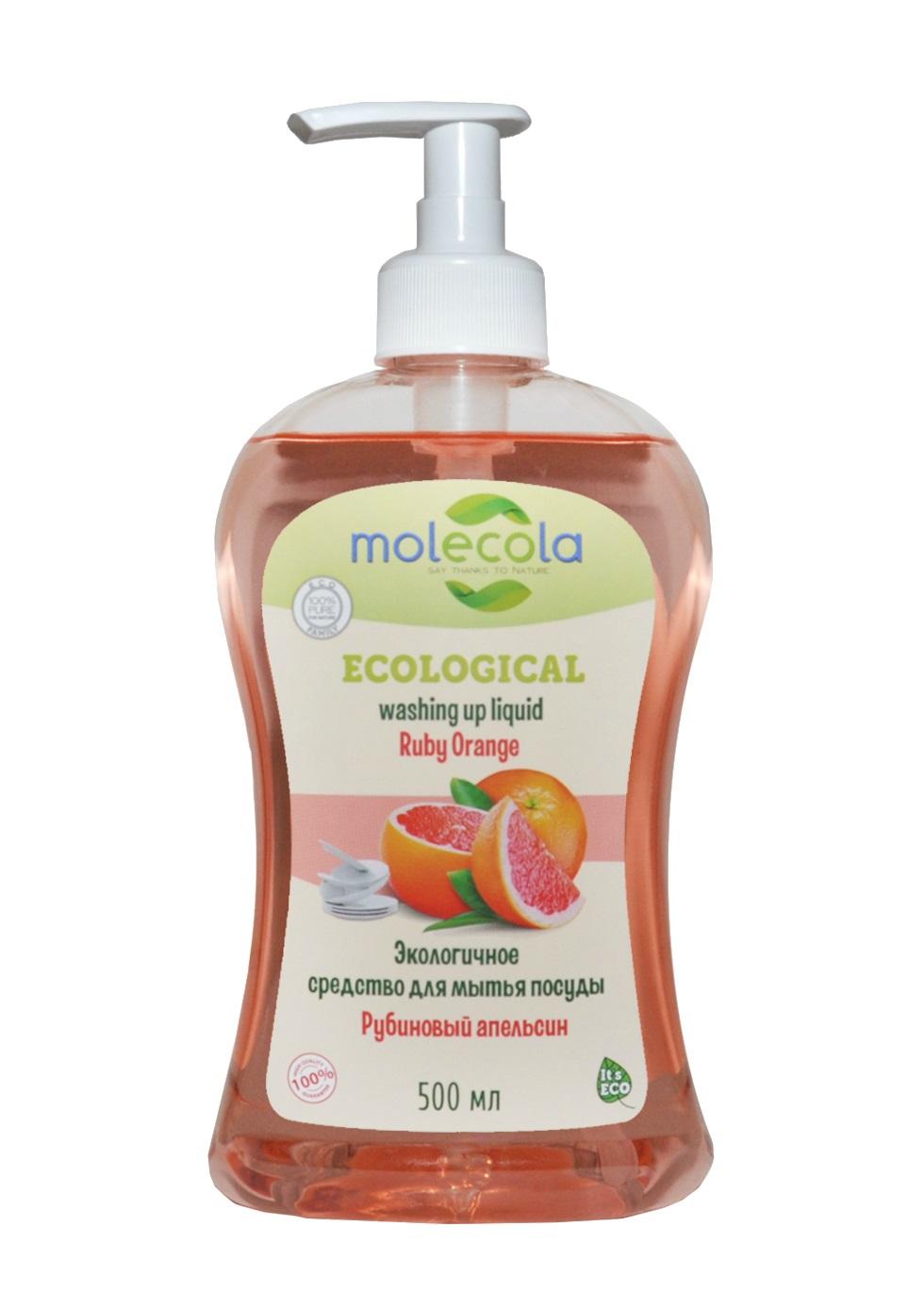 Антибактериальное средство для мытья посуды «Рубиновый апельсин», 500 мл, Molecola фото