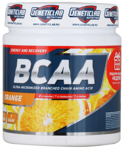 BCAA 2:1:1, вкус апельсин, 250 гр, Geneticlab