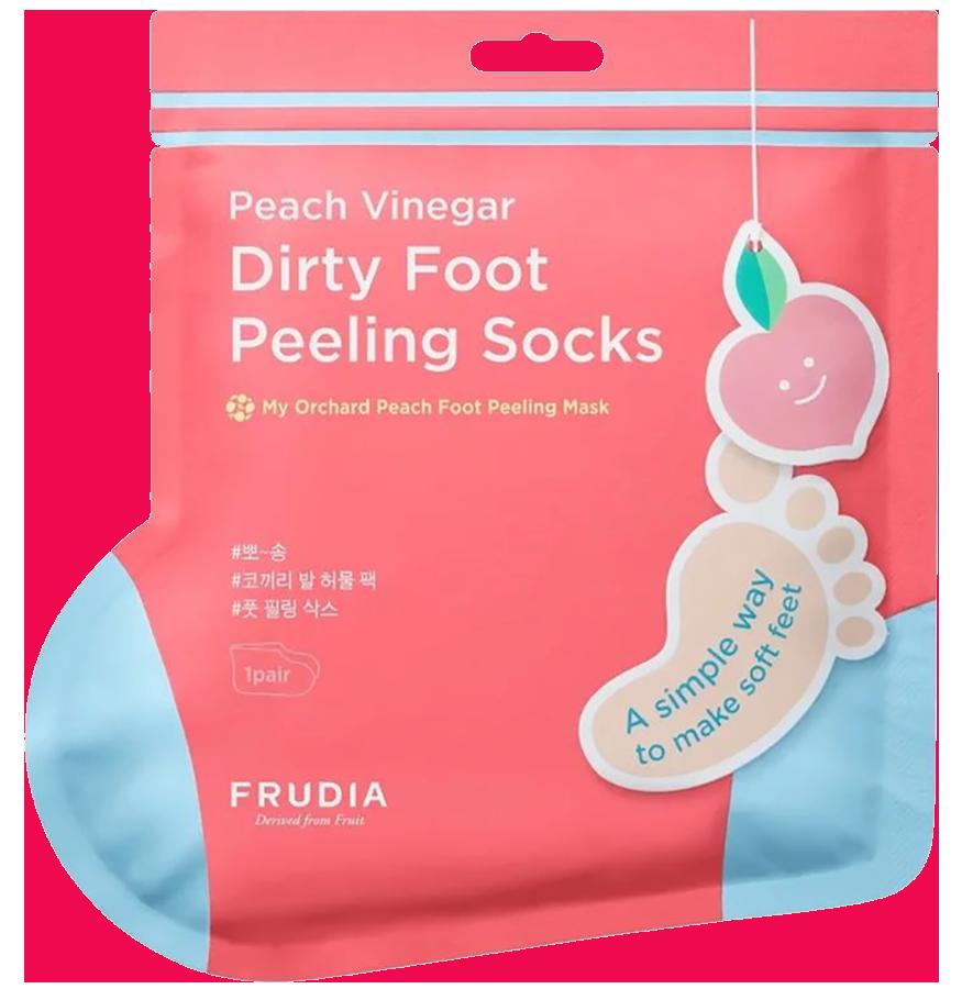 Маска-носочки для педикюра с ароматом персика, 40 г, Frudia