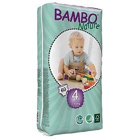 Подгузники для детей Nature Maxi 4 TB, 7-18 кг, 60 шт, BAMBO фото