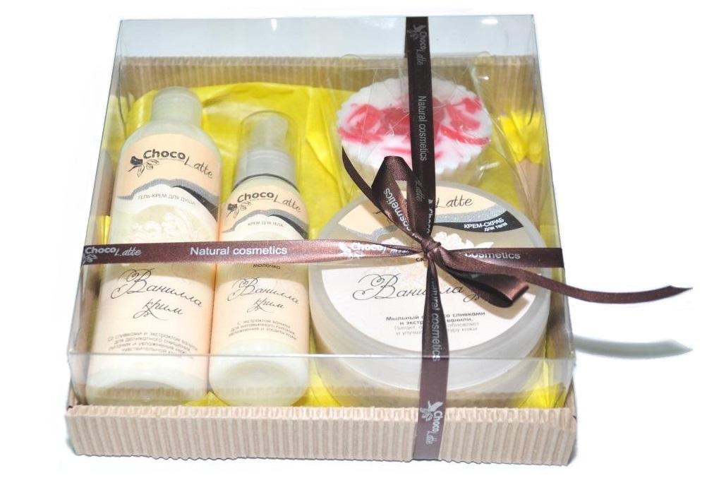 Подарочный набор №4 для тела и душа Ванилла-крим, CHOCOLATTE фото