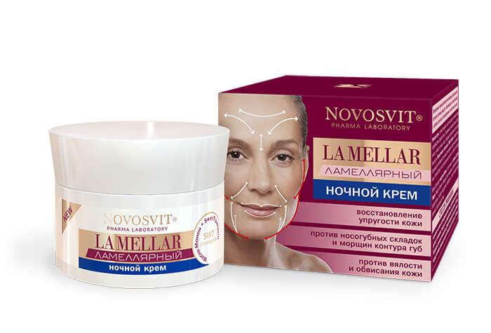 Крем ночной ламеллярный восстанавливающий упрогость кожи LA MELLAR, 50 мл, Novosvit фото