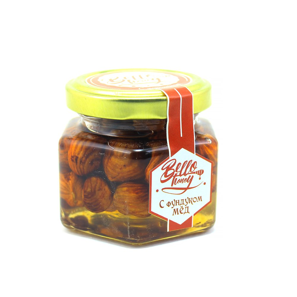 Фундук в меду, 120 мл, BelloHoney фото